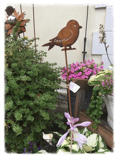 Landhausdekoration, Vogel, Stecker, Rost, Gartendekoration, Gartendeko, Gartenstecker