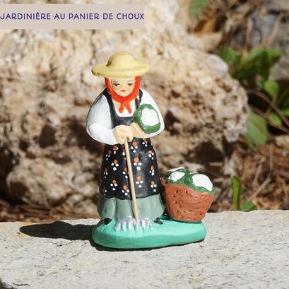 jardinière au panier de choux