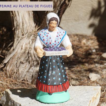 femme au plateau de figues