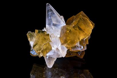 Fluorit auf Calcit, Steinbruch Orismühle