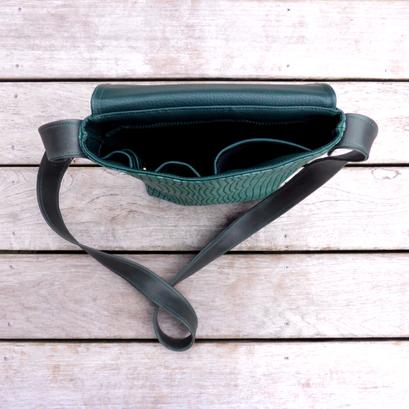 Herrentasche Green Python Innenansicht