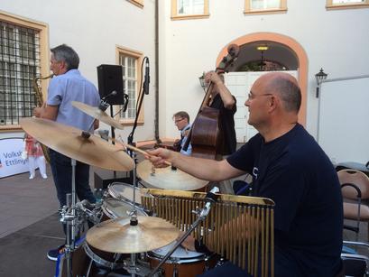 Kinonacht Ettlingen 2016 - Winfried Speeter Schlagzeug - Agua Nova