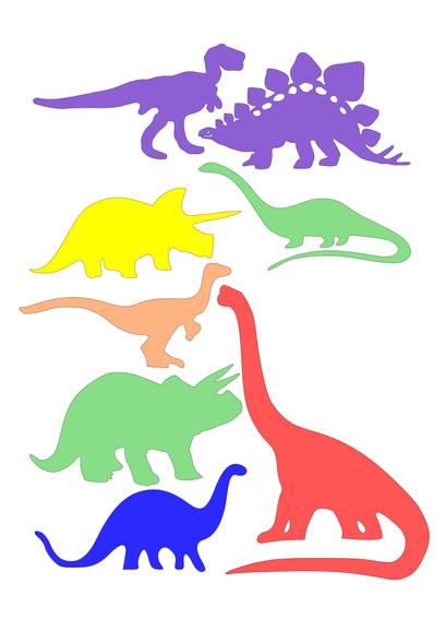 Das sind die Umrisse der Dinosaurier.
