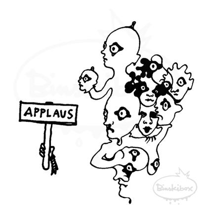 applaus, arbeitsbegleitende gedankenskizze, copyright chantal labinski  2013