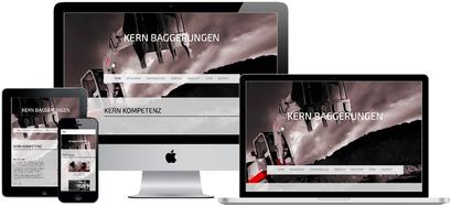 Webkonzept Kern Baggerungen - in Arbeit!