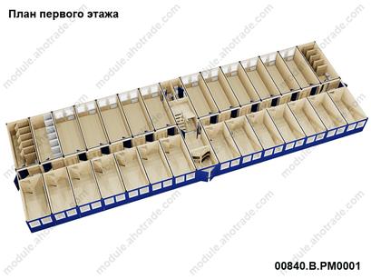 визуализация модульного здания containex, 1 этаж