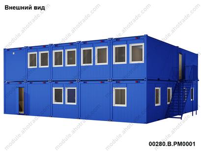 Фасад модульного здания  АБК containex