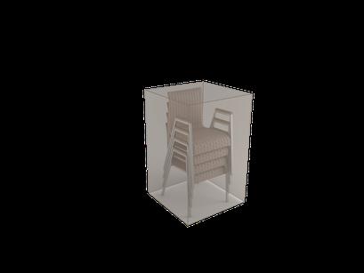 ©Nortene, housse de protection pour moblier - Chaises pliées