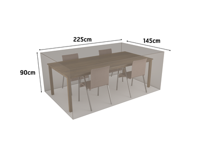 ©Nortene, housse de protection pour moblier - Table rectangle + 4 chaises