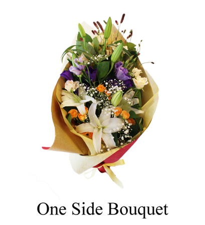 image of one side bouquet