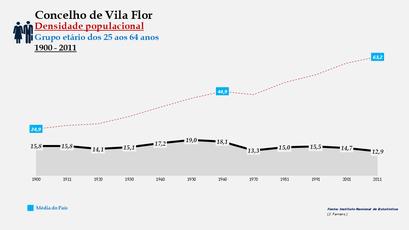 Vila Flor - Densidade populacional (25-64 anos)