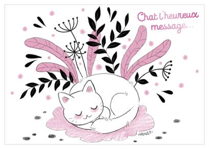 Carte chaleureux message illustrée par Ophélie ORTAL