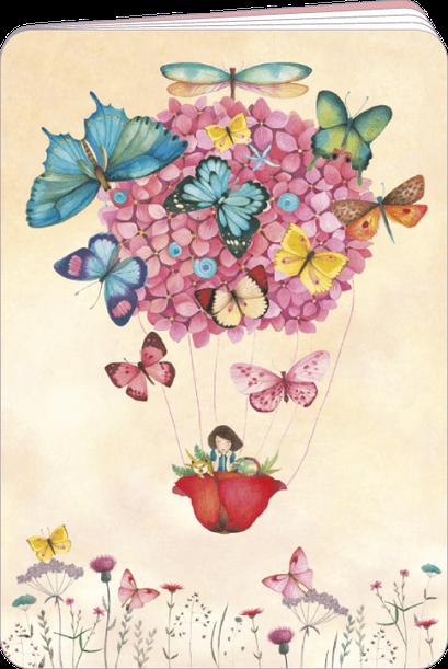 Carnet à dessin finition or illustré par Mila