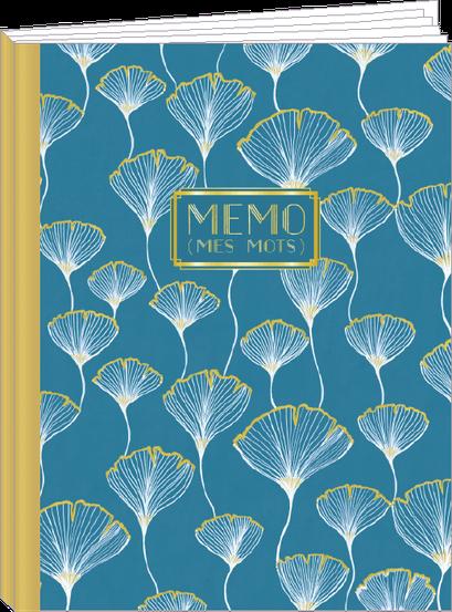 Cahier 96 pages lignées, 100% fabrication française et 100% recyclable. Illustré par Jehanne WEYMAN - KIT5 - thème Ginko