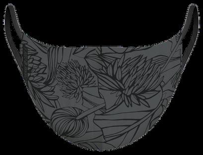 Masque de protection certifiés 100 lavages illustré par Silowane - existe en tailles L et M