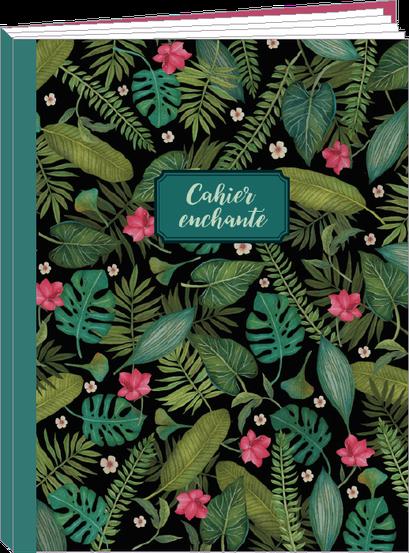 Cahier 96 pages lignées, 100% fabrication française et 100% recyclable. Illustré par Mila - KIT3 - thème forêt enchantée