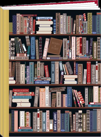 Cahier 96 pages lignées, 100% fabrication française et 100% recyclable. Illustré par Lali et MG - KIT76 - la bibliothèque des amoureux