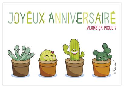 Carte d'anniversaire illustrée par Aurélie BLANZ