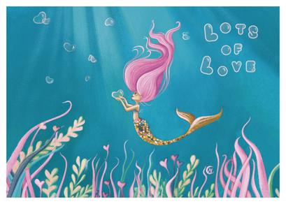 Carte lots of love illustrée par Marie Cardouat