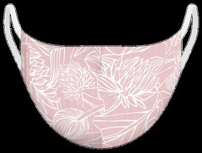 Masque de protection certifiés 100 lavages illustré par Silowane - existe en taille M