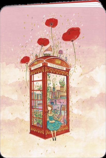 Carnet à dessin finition or illustré par Jehanne WEYMAN