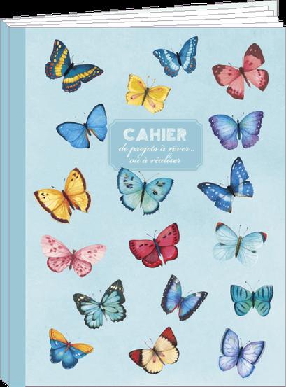 Cahier 96 pages lignées, 100% fabrication française et 100% recyclable. Illustré par Mila - KIT4 - thème papillons