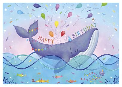 Carte d'anniversaire illustrée par Claske VERSCHOORE
