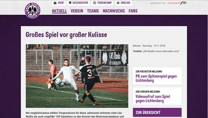 "- 10.11.2018 - Tennis Borussia Berlin vs. SV Lichtenberg 47 | NOFV - Oberliga Nord  ""Großes Spiel vor großer Kulisse"""