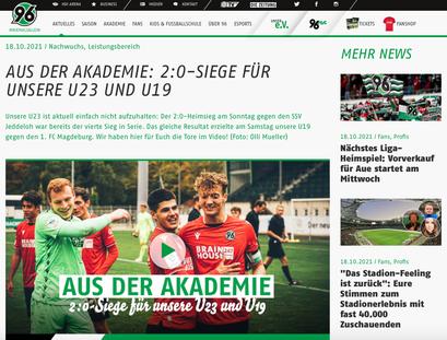 - 18.10.2021 - 2:0-Siege für unsere U23 und U19