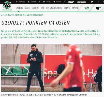- 23.10.2020 - U19/U17: Punkten im Osten