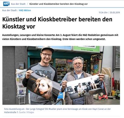 - 20.05.2019 - Künstler und Kioskbetreiber bereiten den Kiosktag vor | HAZ
