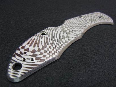 ナイフ インクジェットグラデーション+盛り上げ印刷