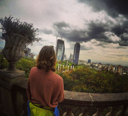 Taken in the castle in Mexico City with a beautiful overview of one of my favorite places and source of energy; the forest Chapultepec
