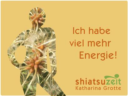 Durch Shiatsu viel mehr Energie