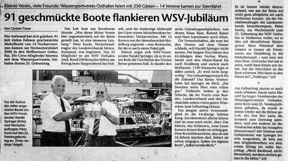 """Artikel der """"Heilbronner Stimme"""" anlässlich des 25-jährigen WSV-Jubiläums"""