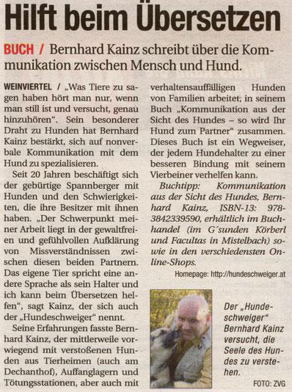 NÖN: Bernhard Kainz hilft beim Übersetzen