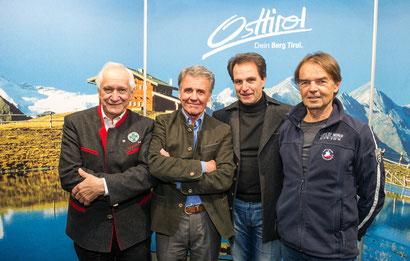 Kurt Nairz (Bergrettung Tirol), Peter Habeler, Franz Theurl (TVB Osttirol), Gerald Aichner (Alpenverein) - Foto: Expa/Michael Gruber