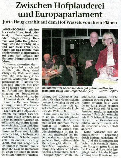 Hertener Allgemeine 29.3.2014