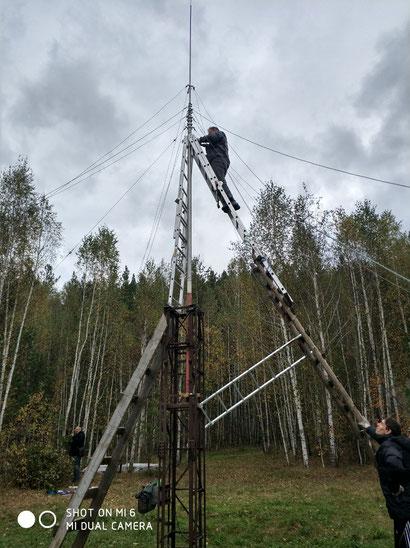 вертикал, RV9CX, подъем, vertical, 160 метров, 80 метров, диапазон