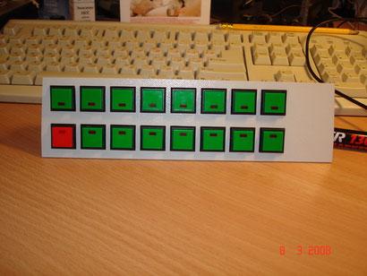 Передняя панель укомплектована кнопками