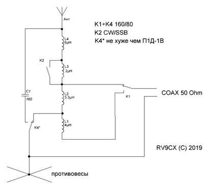 СУ вертикала, RV9CX, согласующее вертикала
