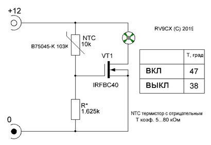 RV9CX, cooler regulator, temperature regulator