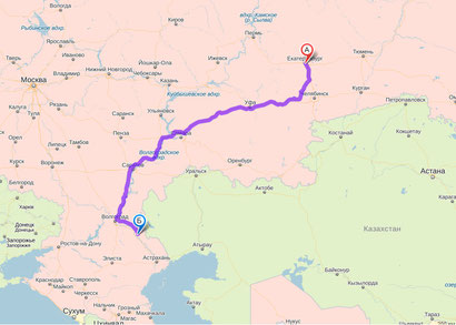 Карта проезда районов