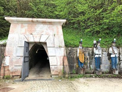 Am Salzbergwerk Berchtesgaden - Die Moserrösche