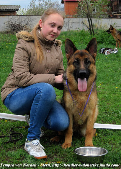 Регина с Темпрой фон Нордэн - Штэрн, апрель - 2016