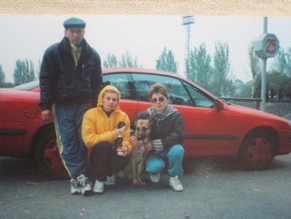 """Беляковы Александр и Оксана и я с Квинтой фон Нордэн на """"Днепре"""""""