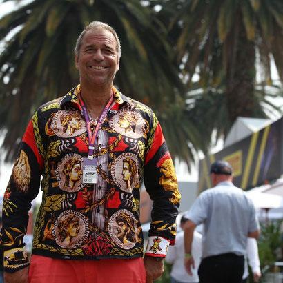 """Moderator Kai Ebel trägt das Germens- Hemd """"Imperator"""" bei der Formel 1-Übertragung aus Mexiko am 27.10.2019"""