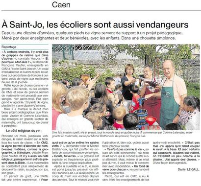Ouest France 26 septembre 2014