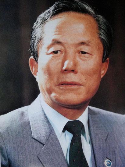 General Chong Hong Hi, ein Taekwondo-Meister.