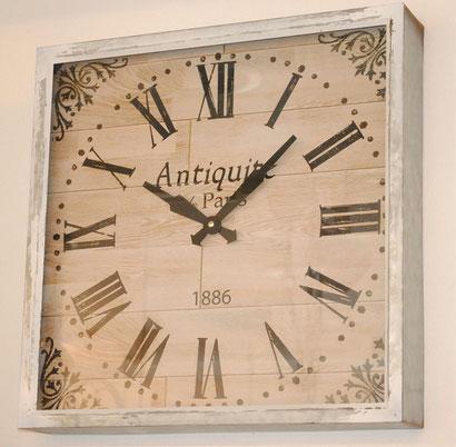 時計 壁掛け時計 ウォールクロック 四角 アンティーク クラシック 大きい時計 大きな壁掛け時計 インテリア雑貨